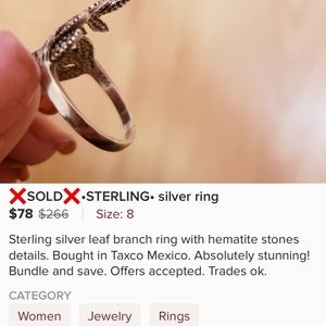 Jewelry - Sterling Silver 925 Ring Size 9